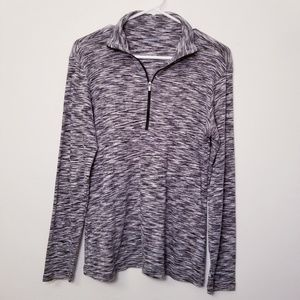 Columbia Large Heathered Gray 1/4 Zip Jacket Top
